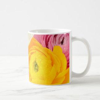 Beautiful ranunculus coffee mug