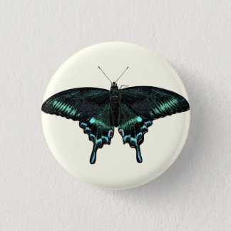 Beautiful realistic butterfly 1 inch round button