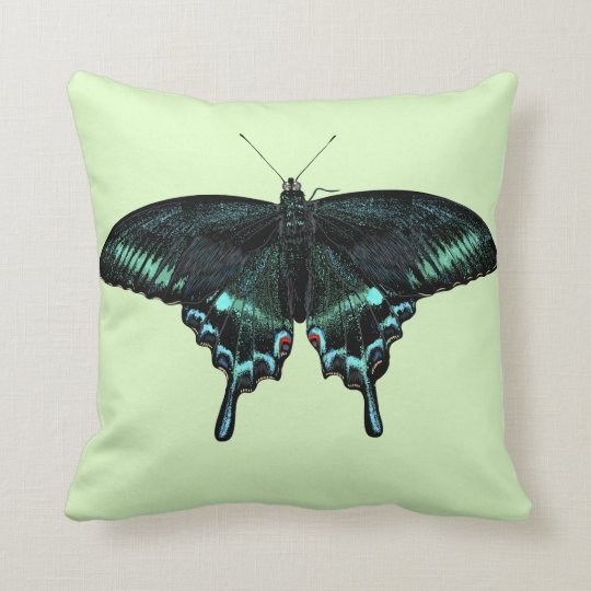 Beautiful realistic butterfly throw pillow
