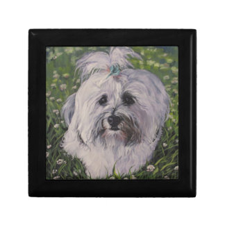 Beautiful Realistic Havanese Dog Art Painting Gift Box