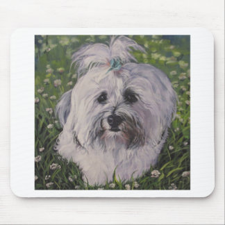Beautiful Realistic Havanese Dog Art Painting Mouse Pad