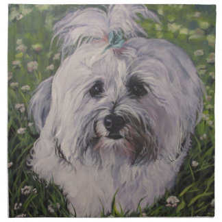 Beautiful Realistic Havanese Dog Art Painting Napkin