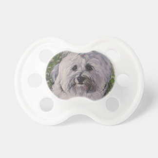 Beautiful Realistic Havanese Dog Art Painting Pacifier