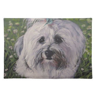 Beautiful Realistic Havanese Dog Art Painting Placemat