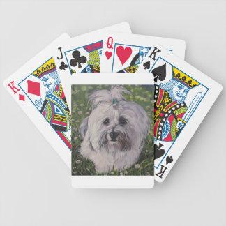 Beautiful Realistic Havanese Dog Art Painting Poker Deck