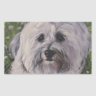Beautiful Realistic Havanese Dog Art Painting Sticker