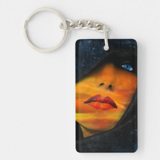 Beautiful Rectangle Single Sided Keychain