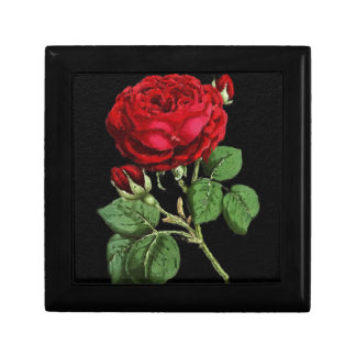 Beautiful Red Abstract Texture Rose Jewelry Boxes