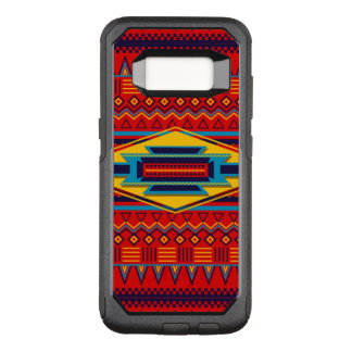 Beautiful Red African Textile Pattern OtterBox Commuter Samsung Galaxy S8 Case
