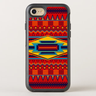 Beautiful Red African Textile Pattern OtterBox Symmetry iPhone 8/7 Case
