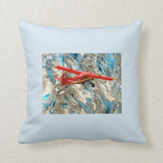 Beautiful red airplane pillow