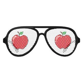 Beautiful Red Apple Fruit Aviator Sunglasses