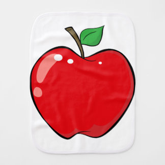 Beautiful Red Apple Fruit Burp Cloth