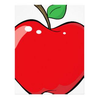 Beautiful Red Apple Fruit Letterhead