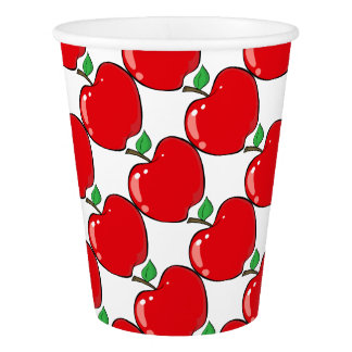 Beautiful Red Apple Fruit Paper Cup