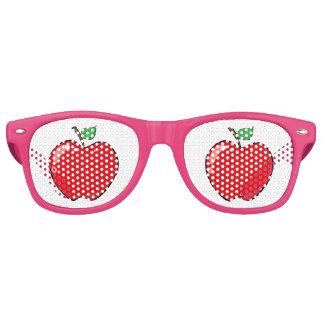 Beautiful Red Apple Fruit Retro Sunglasses