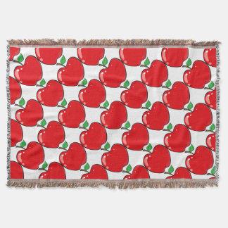 Beautiful Red Apple Fruit Throw Blanket