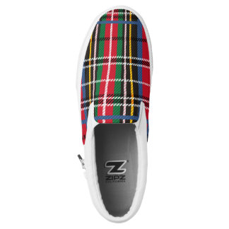 Beautiful Red, Blue, green tartan plaid design Slip-On Sneakers
