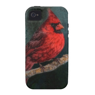 Beautiful Red Cardinal In The Wild iPhone 4/4S Covers