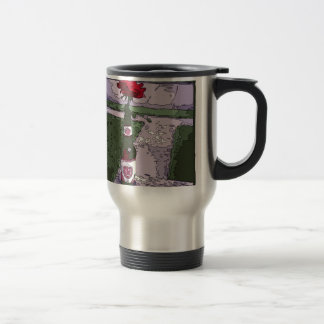 Beautiful Red Carnation in a Beer Bottle Coffee Mugs