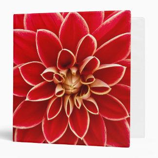 Beautiful red dahlia 3 ring binders