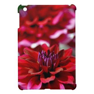 Beautiful red dahlia flower iPad mini cases