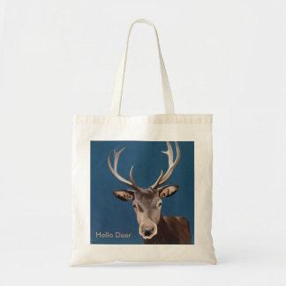 Beautiful red deer design tote bag
