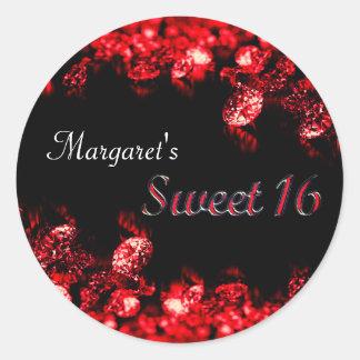 Beautiful Red Diamond Sweet 16 Sticker