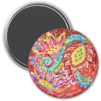 Beautiful Red Flower 7.6cm Round Magnet