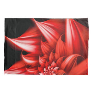 Beautiful Red Flower Airbrush Art Pillowcase