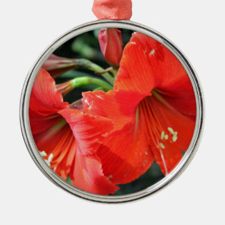 Beautiful Red Flower Photograph Metal Ornament