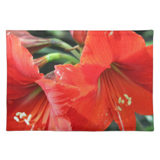 Beautiful Red Flower Photograph Placemat