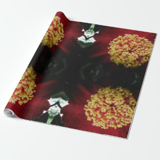 beautiful red flower wrapping paper