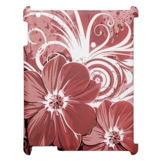 Beautiful red Flowers Swirl abstract vectror art iPad Cases