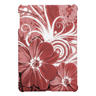 Beautiful red Flowers Swirl abstract vectror art iPad Mini Cases