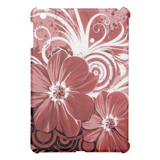 Beautiful red Flowers Swirl abstract vectror art iPad Mini Cover
