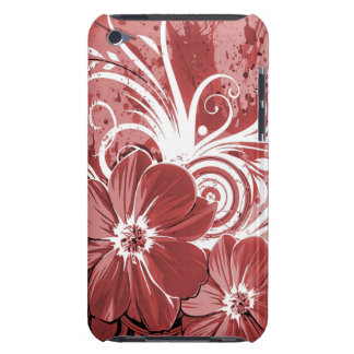 Beautiful red Flowers Swirl abstract vectror art iPod Touch Cases
