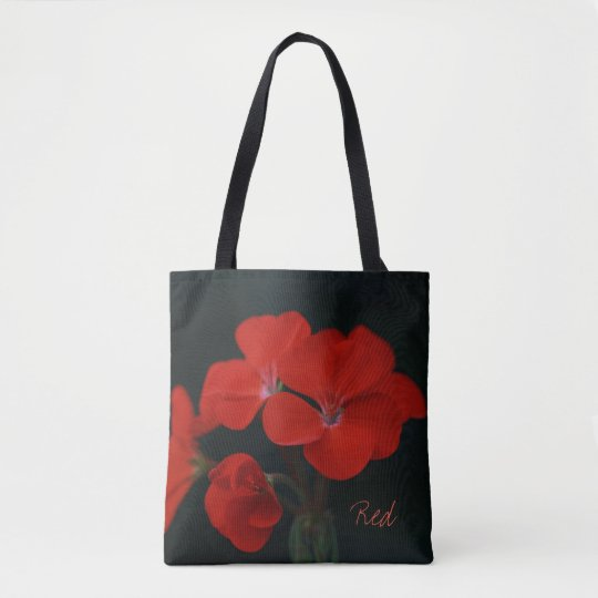 Beautiful Red Flowers Tote Bag