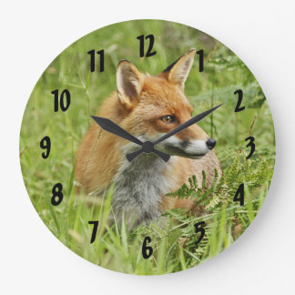 Beautiful Red Fox / Vixen Large Clock