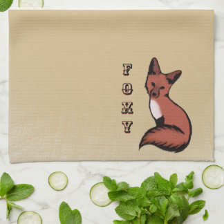 Beautiful Red Foxy Fox Kitchen Towel