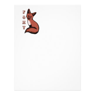 Beautiful Red Foxy Fox Letterhead
