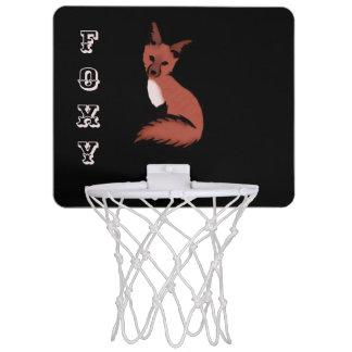 Beautiful Red Foxy Fox Mini Basketball Hoop