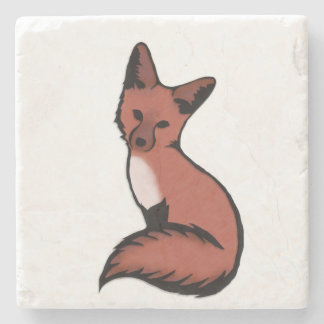 Beautiful Red Foxy Fox Stone Coaster