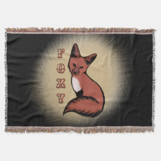 Beautiful Red Foxy Fox Throw Blanket