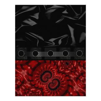 Beautiful Red Fractal Letterhead Design