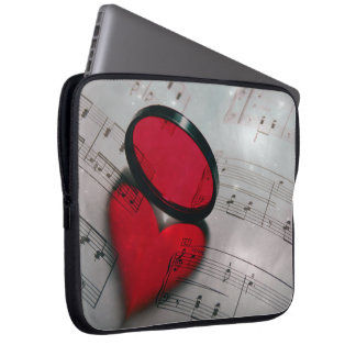 Beautiful red glass reflection forming a heart laptop sleeve