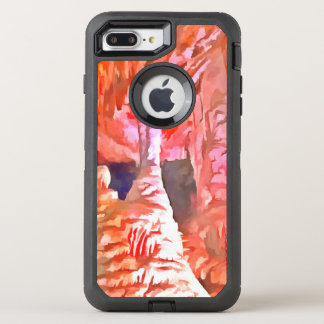 Beautiful red in a cave OtterBox defender iPhone 7 plus case