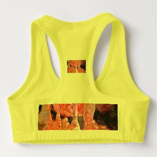Beautiful red in a cave sports bra