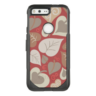 beautiful red love hearts leaves OtterBox commuter google pixel case