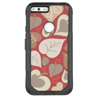 beautiful red love hearts leaves OtterBox commuter google pixel XL case